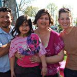 Jessica Lazo y familia