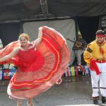 Demostración del baile típico de Puebla