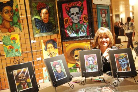 Exhibición de obras de arte para la época de Haloween