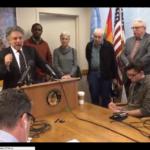 Paul Soglin, Alcalde de Madison en conferencia de prensa