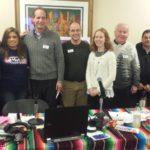 Luis y Lupita Montoto, Laura Green, Lilian Post y otros personeros de CMC.
