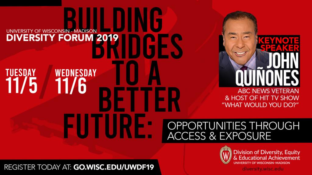 John Quiñones será el orador principal del Foro de Diversidad UW-Madison 2019