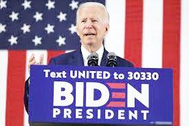Joe Biden, candidato del partido Democrata