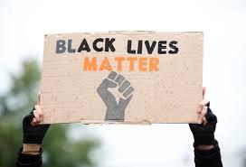 "Pancarta ""Black Lives Matter"""