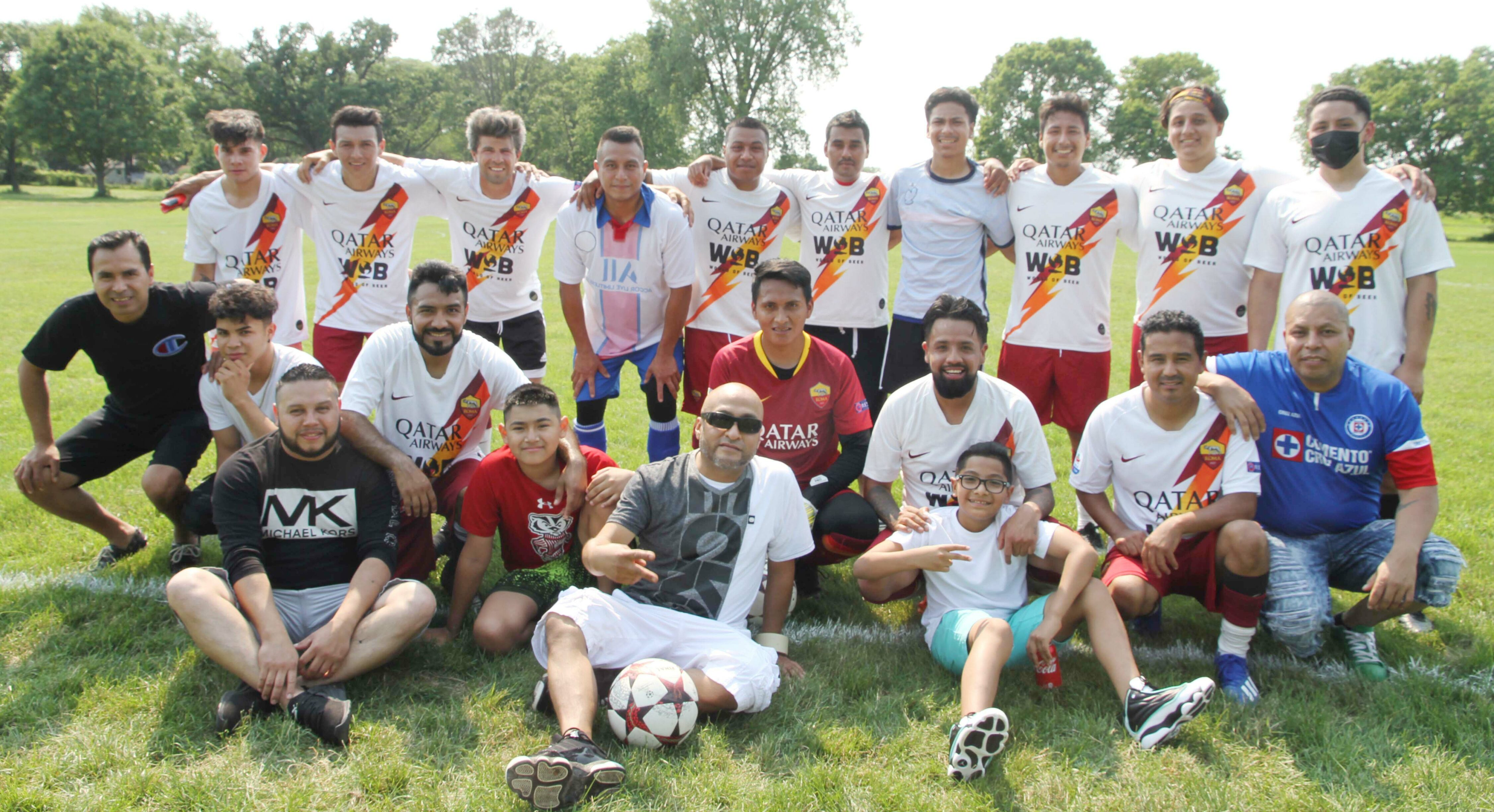 La liga de Latinos y Latinas de Madison con resultados del 4 de Julio.